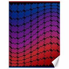 Colorful Red & Blue Gradient Background Canvas 18  X 24   by Simbadda