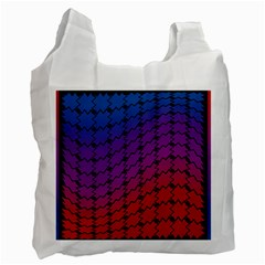 Colorful Red & Blue Gradient Background Recycle Bag (one Side) by Simbadda