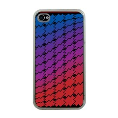 Colorful Red & Blue Gradient Background Apple Iphone 4 Case (clear) by Simbadda