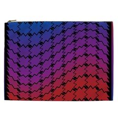 Colorful Red & Blue Gradient Background Cosmetic Bag (xxl)  by Simbadda