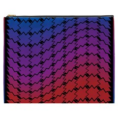 Colorful Red & Blue Gradient Background Cosmetic Bag (xxxl)  by Simbadda