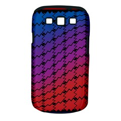 Colorful Red & Blue Gradient Background Samsung Galaxy S Iii Classic Hardshell Case (pc+silicone) by Simbadda