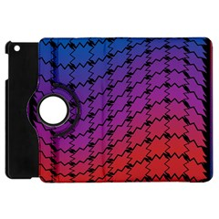 Colorful Red & Blue Gradient Background Apple Ipad Mini Flip 360 Case by Simbadda