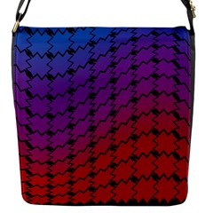 Colorful Red & Blue Gradient Background Flap Messenger Bag (s) by Simbadda