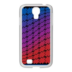 Colorful Red & Blue Gradient Background Samsung Galaxy S4 I9500/ I9505 Case (white) by Simbadda