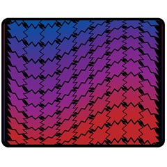 Colorful Red & Blue Gradient Background Double Sided Fleece Blanket (medium)  by Simbadda