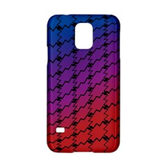 Colorful Red & Blue Gradient Background Samsung Galaxy S5 Hardshell Case  by Simbadda