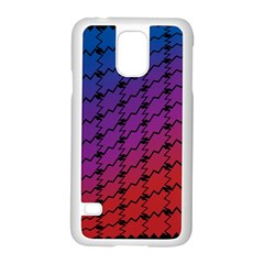 Colorful Red & Blue Gradient Background Samsung Galaxy S5 Case (white) by Simbadda
