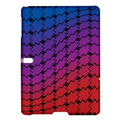 Colorful Red & Blue Gradient Background Samsung Galaxy Tab S (10 5 ) Hardshell Case  by Simbadda
