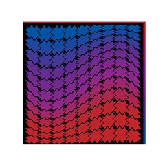 Colorful Red & Blue Gradient Background Small Satin Scarf (square) by Simbadda