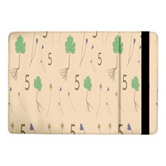 Five Leaf Green Brown Purple Floral Flower Tulip Sunflower Samsung Galaxy Tab Pro 10 1  Flip Case