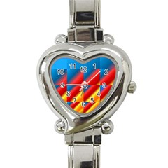 Gradient Map Filter Pack Table Heart Italian Charm Watch by Simbadda