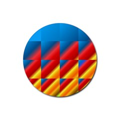 Gradient Map Filter Pack Table Rubber Coaster (round)  by Simbadda
