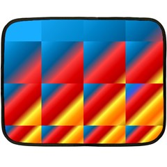 Gradient Map Filter Pack Table Double Sided Fleece Blanket (mini)  by Simbadda