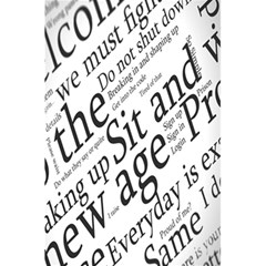 Abstract Minimalistic Text Typography Grayscale Focused Into Newspaper 5 5  X 8 5  Notebooks by Simbadda