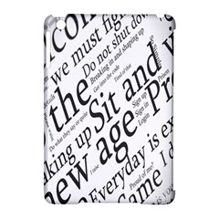 Abstract Minimalistic Text Typography Grayscale Focused Into Newspaper Apple Ipad Mini Hardshell Case (compatible With Smart Cover) by Simbadda