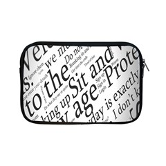 Abstract Minimalistic Text Typography Grayscale Focused Into Newspaper Apple Ipad Mini Zipper Cases by Simbadda