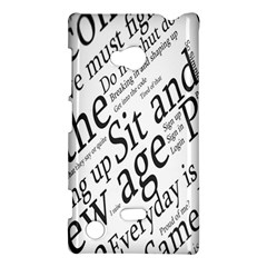 Abstract Minimalistic Text Typography Grayscale Focused Into Newspaper Nokia Lumia 720 by Simbadda
