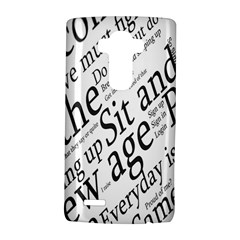 Abstract Minimalistic Text Typography Grayscale Focused Into Newspaper Lg G4 Hardshell Case by Simbadda