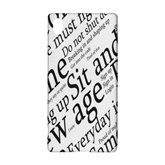Abstract Minimalistic Text Typography Grayscale Focused Into Newspaper Sony Xperia Z3+ by Simbadda