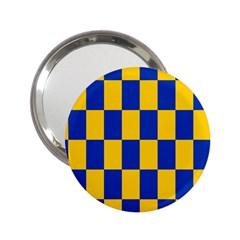 Flag Plaid Blue Yellow 2 25  Handbag Mirrors by Alisyart