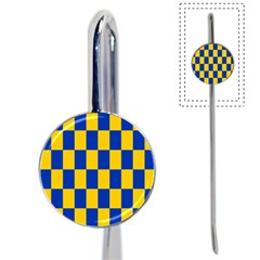 Flag Plaid Blue Yellow Book Mark by Alisyart