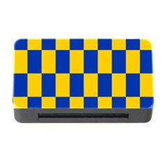 Flag Plaid Blue Yellow Memory Card Reader With Cf by Alisyart