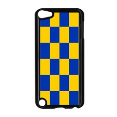 Flag Plaid Blue Yellow Apple Ipod Touch 5 Case (black) by Alisyart