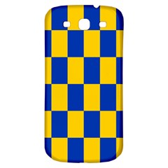 Flag Plaid Blue Yellow Samsung Galaxy S3 S Iii Classic Hardshell Back Case by Alisyart