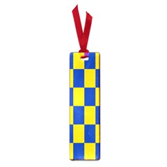 Flag Plaid Blue Yellow Small Book Marks by Alisyart