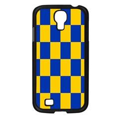 Flag Plaid Blue Yellow Samsung Galaxy S4 I9500/ I9505 Case (black) by Alisyart