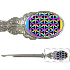 Flower Of Life Gradient Fill Black Circle Plain Letter Openers by Simbadda