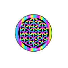 Flower Of Life Gradient Fill Black Circle Plain Hat Clip Ball Marker (10 Pack) by Simbadda