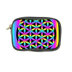 Flower Of Life Gradient Fill Black Circle Plain Coin Purse by Simbadda