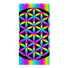 Flower Of Life Gradient Fill Black Circle Plain Shower Curtain 36  X 72  (stall)  by Simbadda