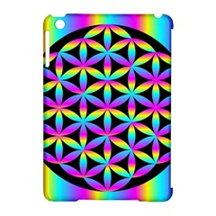 Flower Of Life Gradient Fill Black Circle Plain Apple Ipad Mini Hardshell Case (compatible With Smart Cover) by Simbadda