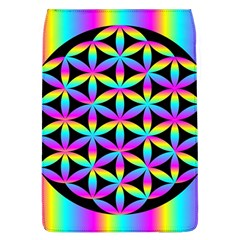 Flower Of Life Gradient Fill Black Circle Plain Flap Covers (l)  by Simbadda