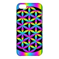Flower Of Life Gradient Fill Black Circle Plain Apple Iphone 5c Hardshell Case by Simbadda