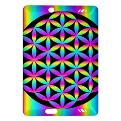 Flower Of Life Gradient Fill Black Circle Plain Amazon Kindle Fire Hd (2013) Hardshell Case by Simbadda