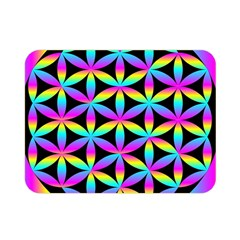 Flower Of Life Gradient Fill Black Circle Plain Double Sided Flano Blanket (mini)  by Simbadda