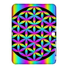 Flower Of Life Gradient Fill Black Circle Plain Samsung Galaxy Tab 4 (10 1 ) Hardshell Case  by Simbadda