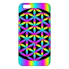 Flower Of Life Gradient Fill Black Circle Plain Iphone 6 Plus/6s Plus Tpu Case by Simbadda