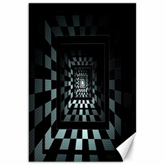 Optical Illusion Square Abstract Geometry Canvas 20  X 30   by Simbadda