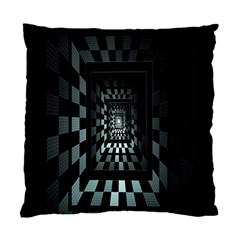 Optical Illusion Square Abstract Geometry Standard Cushion Case (one Side) by Simbadda