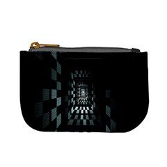 Optical Illusion Square Abstract Geometry Mini Coin Purses by Simbadda