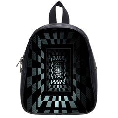 Optical Illusion Square Abstract Geometry School Bags (small)  by Simbadda