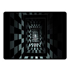 Optical Illusion Square Abstract Geometry Fleece Blanket (small) by Simbadda