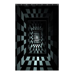 Optical Illusion Square Abstract Geometry Shower Curtain 48  X 72  (small)  by Simbadda
