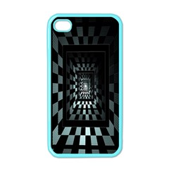 Optical Illusion Square Abstract Geometry Apple Iphone 4 Case (color) by Simbadda