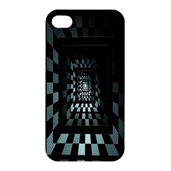 Optical Illusion Square Abstract Geometry Apple Iphone 4/4s Hardshell Case by Simbadda